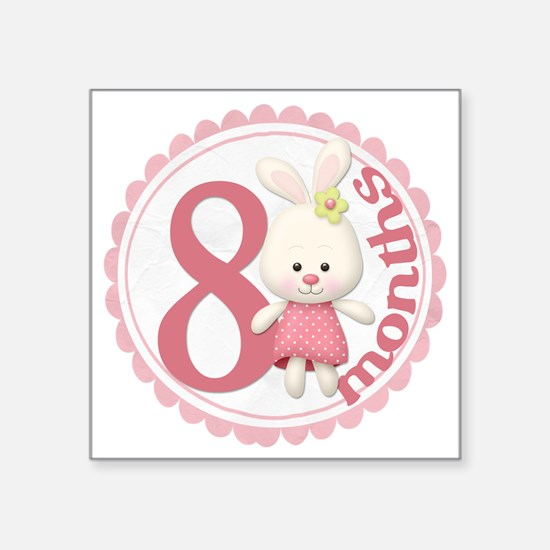 Bunny 8 Copy Square Sticker 3