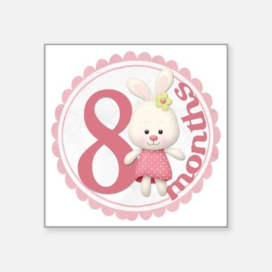 Bunny 8 Copy Square Sticker 3