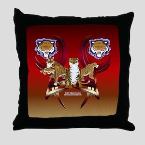 4 Tigers Throw Pillow