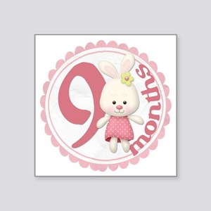 "bunny-9 copy Square Sticker 3"" x 3"""