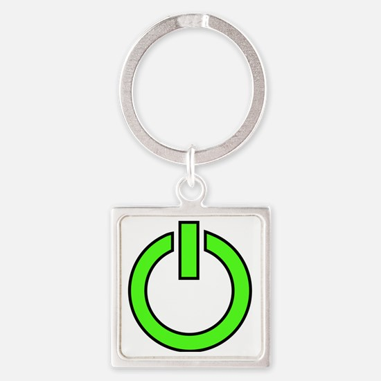 geekPowerA5 Square Keychain