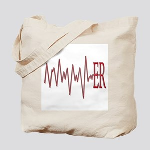 ER EKG Tote Bag