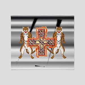 Tiger Celt Cross Throw Blanket
