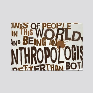 anthropologist_two_brown Rectangle Magnet