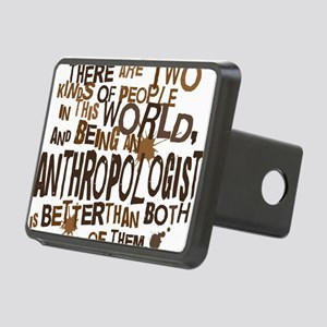 anthropologist_two_brown Rectangular Hitch Cover