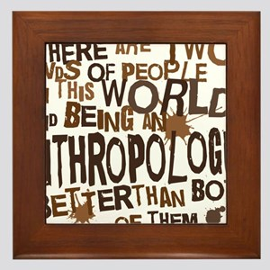 anthropologist_two_brown Framed Tile