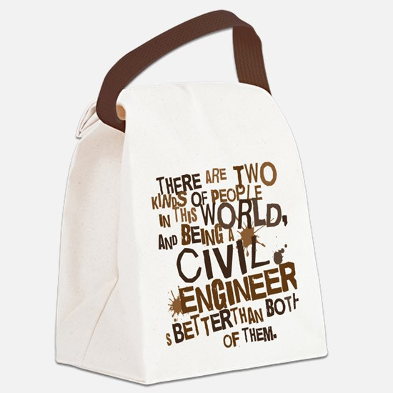 civil_engineer_two_brown Canvas Lunch Bag
