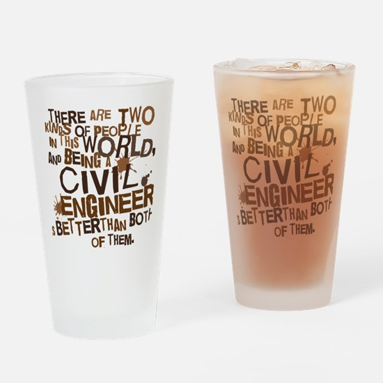 civil_engineer_two_brown Drinking Glass