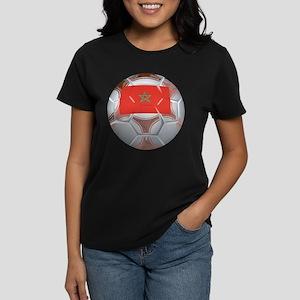 Morocco Soccer Women's Dark T-Shirt