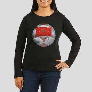 Morocco Soccer Women's Long Sleeve Dark T-Shirt