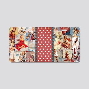CLUTCH_Pin-Up_Red-01 Aluminum License Plate