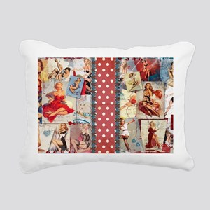 TOILETRY_Pin-Up_Red-01 Rectangular Canvas Pillow