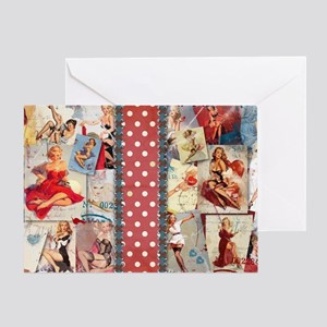 TOILETRY_Pin-Up_Red-01 Greeting Card