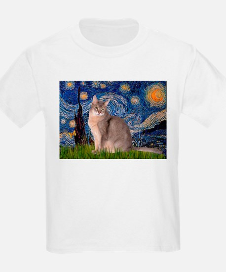 Starry / Blue Abyssinian cat T-Shirt