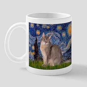 Starry / Blue Abyssinian cat Mug