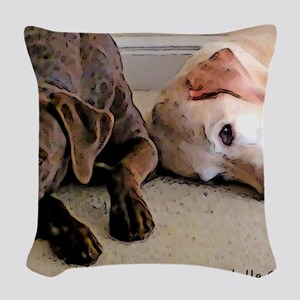 ScoutBudSnoozing Woven Throw Pillow