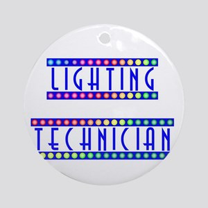Lighting Technician Ornament (Round)
