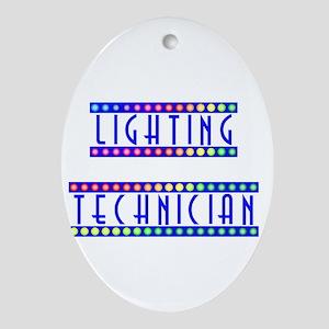 Lighting Technician Oval Ornament
