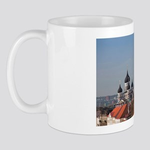 Elevated view of Toompea from St. Olaf' Mug
