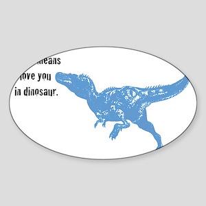 t-rex Sticker (Oval)