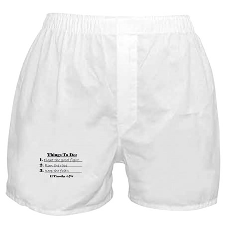 Things to Do Boxer Shorts