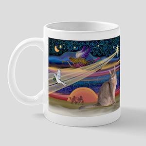 Xmas Star / Abyssinian Cat Mug