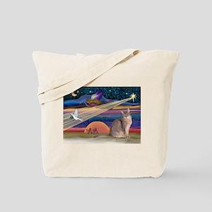 Xmas Star / Abyssinian Cat Tote Bag