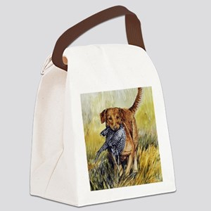 Chessie w Ph Master for CafePress Canvas Lunch Bag