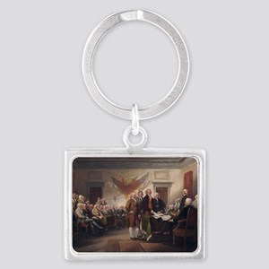 declaration-of-independence-tru Landscape Keychain