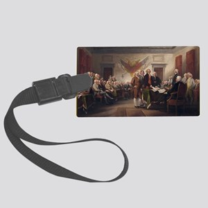 declaration-of-independence-trum Large Luggage Tag