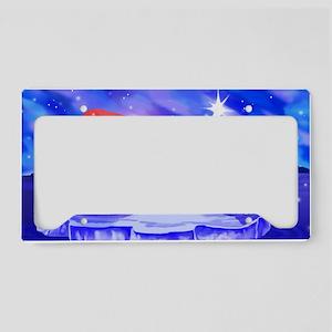Christmas Seal License Plate Holder