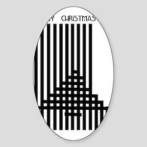 Mackintosh Inspired Christmas Sticker (Oval)