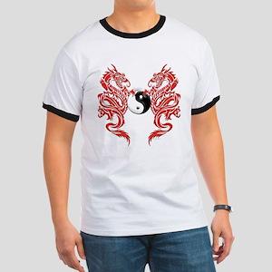 Yin Yang Dragons Ringer T