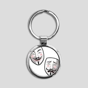occupy-hollywood-T Round Keychain
