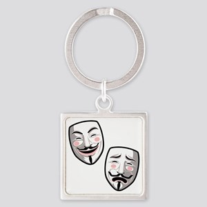 occupy-hollywood-T Square Keychain