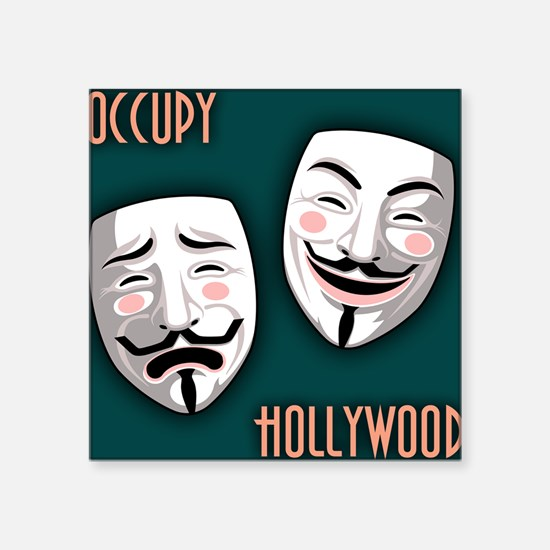 """occupy-hollywood-TIL Square Sticker 3"""" x 3"""""""