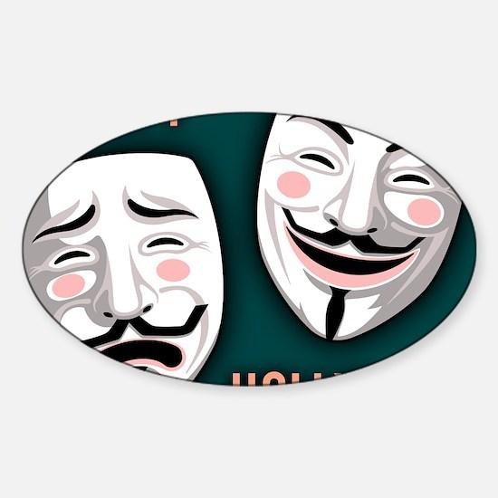 occupy-hollywood-LG Sticker (Oval)