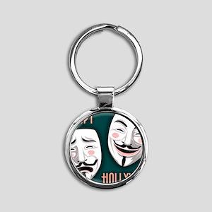 occupy-hollywood-LG Round Keychain
