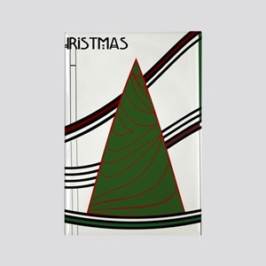 Mackintosh Inspired Christmas Tre Rectangle Magnet