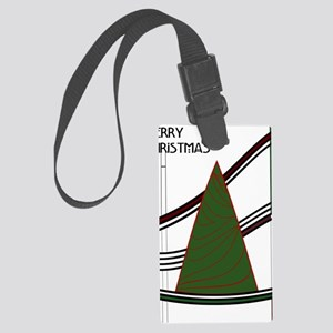 Mackintosh Inspired Christmas Tr Large Luggage Tag