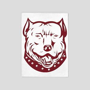pitbull pit bull terrier mongrel do 5'x7'Area Rug