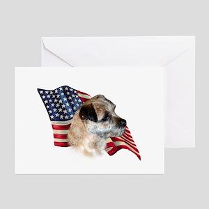 Border Terrier Flag Greeting Cards (Pk of 10)