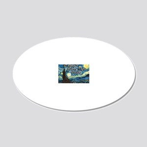 Mallorys 20x12 Oval Wall Decal