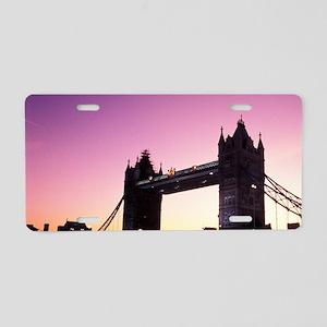 Famous Tower Bridge over th Aluminum License Plate