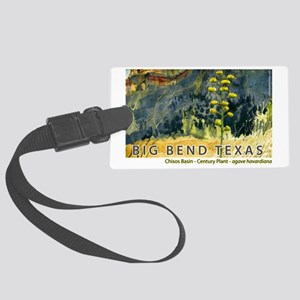 bigbend_basin Large Luggage Tag