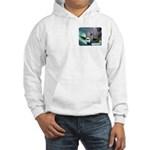Angels coming and going Hooded Sweatshirt
