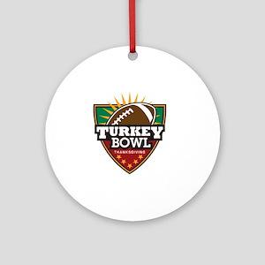 turkeybowl Round Ornament