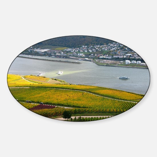 Autumn on Rhine Sticker (Oval)