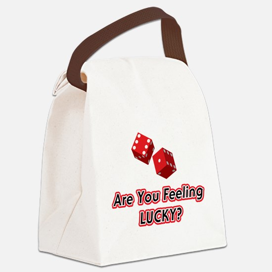 Are You Feeling LUCKY.png Canvas Lunch Bag