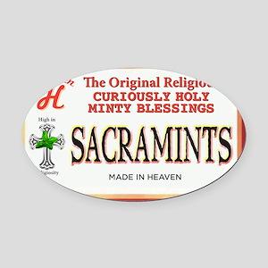 sacramints Oval Car Magnet